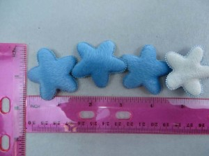 blue star felt padded applique / scrapbooking craft DIY / wedding decoration