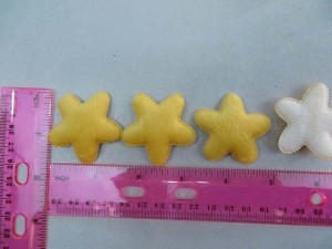 yellow star felt padded applique / scrapbooking craft DIY / wedding decoration