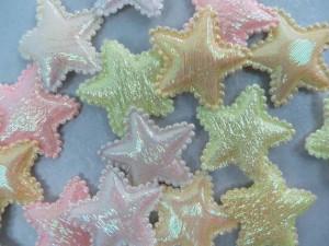 blue star padded applique / scrapbooking craft DIY / wedding decoration