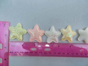 blue star padded applique / scrapbooking craft DIY / wedding decoration