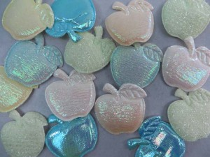 apple padded applique / scrapbooking craft DIY / wedding decoration
