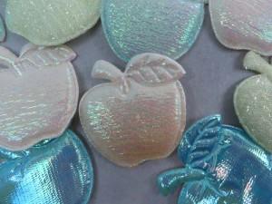 apple padded applique / scrapbooking craft DIY / wedding decoration