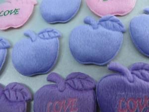 apple felt padded applique / scrapbooking craft DIY / wedding decoration