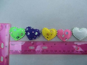 sequins heart padded applique / scrapbooking craft DIY / wedding decoration