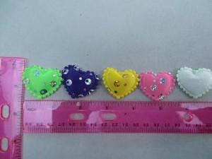 sequins heart padded applique / scrapbooking craft DIY / wedding decoration