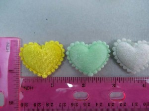 heart felt padded applique / scrapbooking craft DIY / wedding decoration