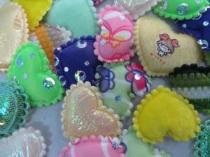 heart padded applique / scrapbooking craft DIY / wedding decoration