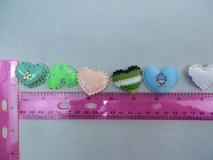 heart padded applique / scrapbooking craft DIY / wedding decoration