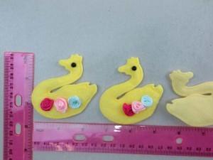 goose felt padded applique / scrapbooking craft DIY / wedding decoration
