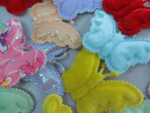 butterfly padded applique / scrapbooking craft DIY / wedding decoration