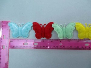 double layer butterfly felt padded applique / scrapbooking craft DIY / wedding decoration