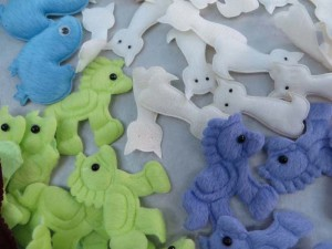 mixed animals felt padded applique / scrapbooking craft DIY / wedding decoration