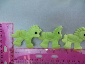 green horse felt padded applique / scrapbooking craft DIY / wedding decoration