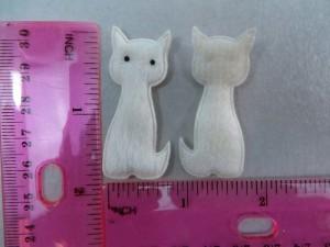 white cat felt padded applique / scrapbooking craft DIY / wedding decoration