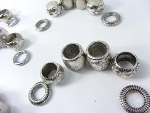 6pcs scarf ring large hole beads for DIY jewelry scarf