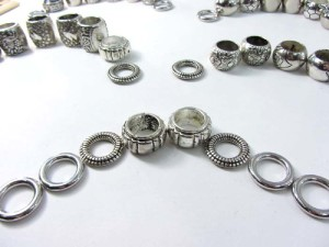 8pcs scarf ring large hole beads for DIY jewelry scarf