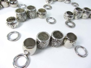 scarf ring large hole beads for DIY jewelry scarf