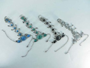 Enamel Slave Harem Exotic Ring Bangle Bracelet