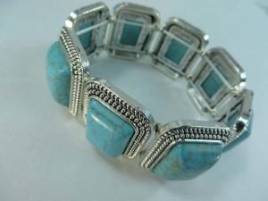 turquoise elastic stretchy bracelet bangles