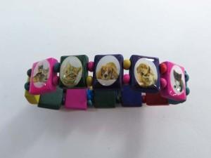 pets cats dogs wooden stretchy bracelets wristband