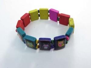 owls wooden stretchy bracelets wristband