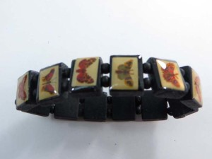 butterfly wooden stretchy bracelets wristband