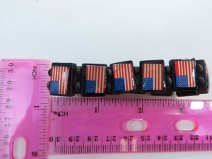 American flag wooden stretchy bracelets wristband