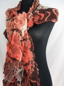 Paisley diamond winter knitted scarves neckwarmer bubble shawls.