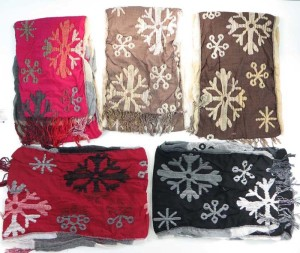 snow flake winter knitted scarves neckwarmer bubble shawls.