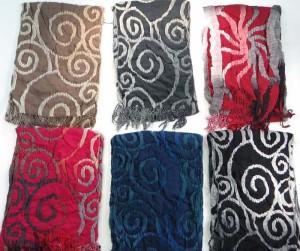 swirl winter knitted scarves neckwarmer bubble shawls.