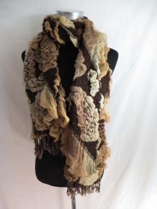 paisley rose winter knitted scarves neckwarmer bubble shawls