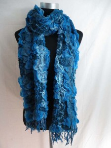 floral winter knitted scarves neckwarmer bubble shawls