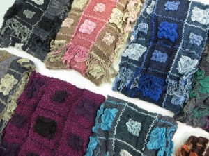 square blocks winter knitted scarves neckwarmer bubble shawls