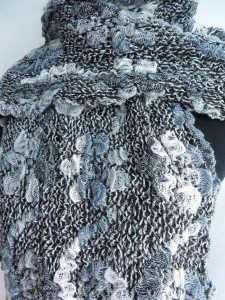 flower and swirl winter knitted scarves neckwarmer bubble shawls
