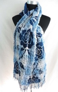 large roses winter knitted scarves neckwarmer bubble shawls
