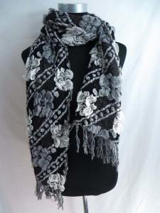 flowers winter knitted scarves neckwarmer bubble shawls.