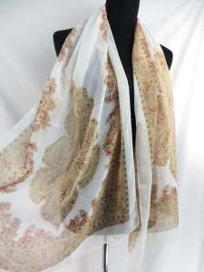 Boho vintage retro chiffon scarf shawl wrap. Fashion scarf for all seasons.