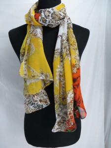 boho vintage retro chiffon scarves scarf shawl wrap. Fashion scarf for all seasons.