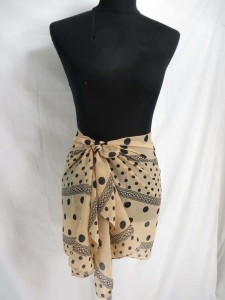 vintage retro poker dots chiffon scarves
