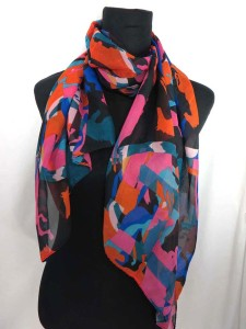 Mixed designs chiffon scarf shawl wrap. Fashion scarf for all seasons