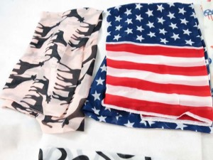 Mixed designs ( American flag, animal skin, giraffe ) chiffon scarves scarf shawl wrap