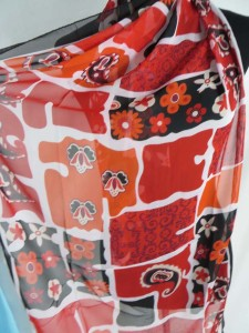 boho flowers and color blocks chiffon scarves scarf shawl wrap
