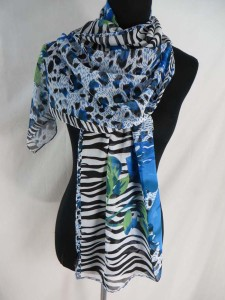 rose and animal print chiffon scarves scarf shawl wrap