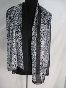 animal skin leopard print chiffon scarves scarf shawl wrap