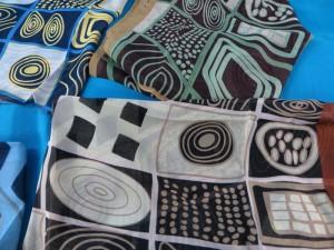 artistic geomatric design chiffon scarves scarf shawl wrap