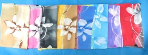 Daylilly flower chiffon scarves scarf shawl wrap