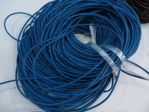 blue rubber cord for necklace craft DIY