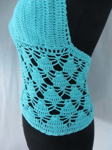 Sexy beachwear fishnet crochet top Handmade in Bali Indonesia One size fits all, will fits small to medium size women. mixed 3 colors as shown.