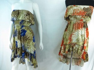 mixed designs high-low dress