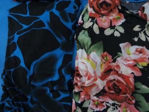 Crack tile and floral design women's dress. Hippy boho dress, boho beach dress, vintage sundress